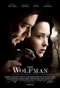 The Wolfman 203x300 - DC Horror Oscars Part II: Horror Movies That Were Nominated And/Or Won Academy Awards