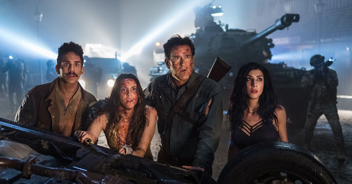 s Ash vs Evil Dead Bruce Campbell Ray Santiago Arielle Carver ONeill Dana DeLorenzo Season 3 Courtesy of Lionsgate 1 - Ash vs Evil Dead Confirmed For Fourth Season?