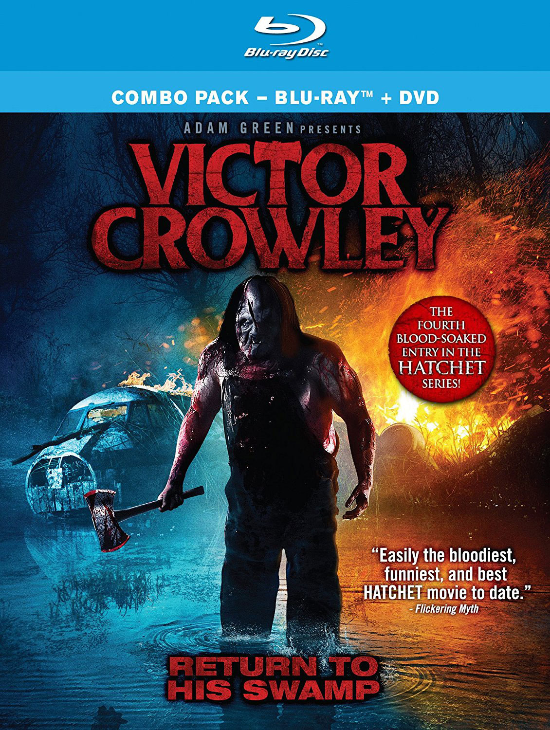 victor crowley win a copy of the blu ray along with a. Black Bedroom Furniture Sets. Home Design Ideas