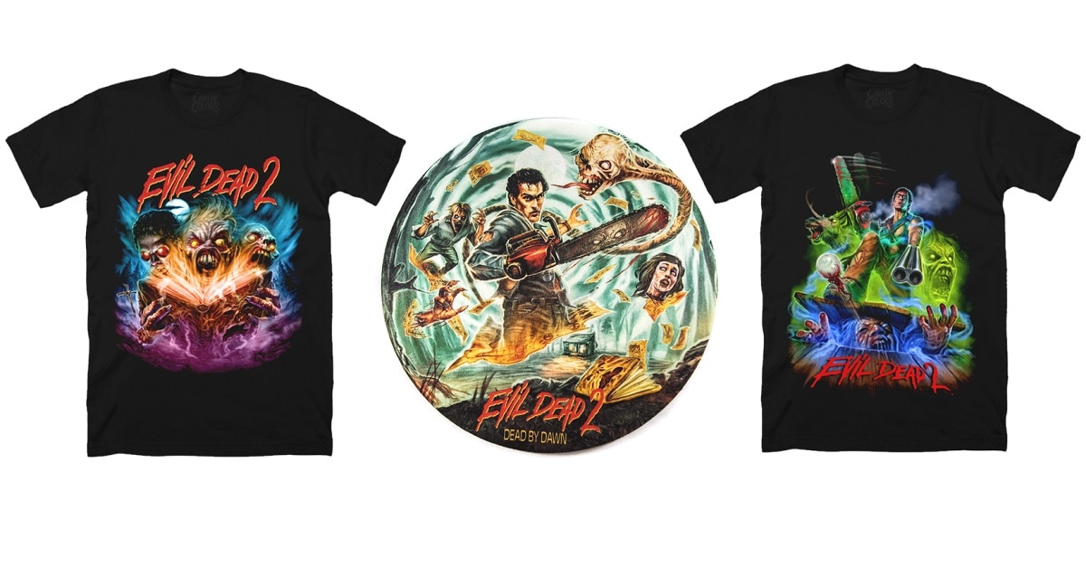 CavityColorsEvilDead2 - New Evil Dead 2 Shirts, Turntable Slipmats, and Candle Via Cavity Colors