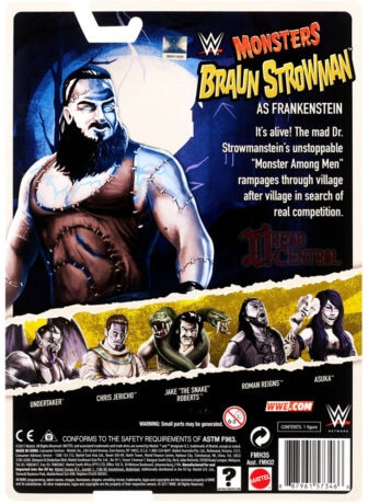 Mattel WWE Monsters Braun Strowman 002 336x460 - Mattel's WWE Figures Showing Their Teeth...and Claws...And Other Monster Parts