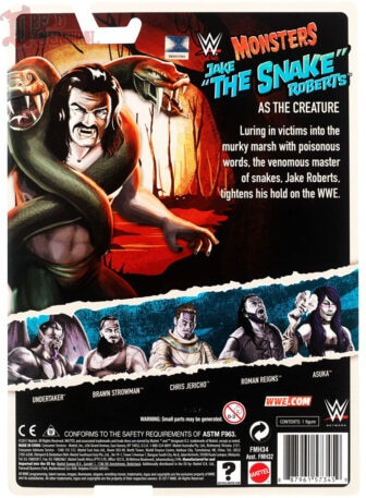 Mattel WWE Monsters Jake the Snake Roberts 002 336x457 - Mattel's WWE Figures Showing Their Teeth...and Claws...And Other Monster Parts