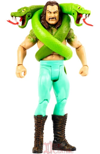 Mattel WWE Monsters Jake the Snake Roberts 003 336x515 - Mattel's WWE Figures Showing Their Teeth...and Claws...And Other Monster Parts