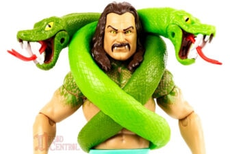 Mattel WWE Monsters Jake the Snake Roberts 004 336x225 - Mattel's WWE Figures Showing Their Teeth...and Claws...And Other Monster Parts