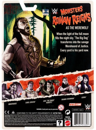 Mattel WWE Monsters Roman Reigns 002 336x455 - Mattel's WWE Figures Showing Their Teeth...and Claws...And Other Monster Parts