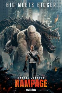 Rampagenewposter 202x300 - Go Figure, Blumhouse's Truth or Dare and Rampage Get PG-13 Ratings