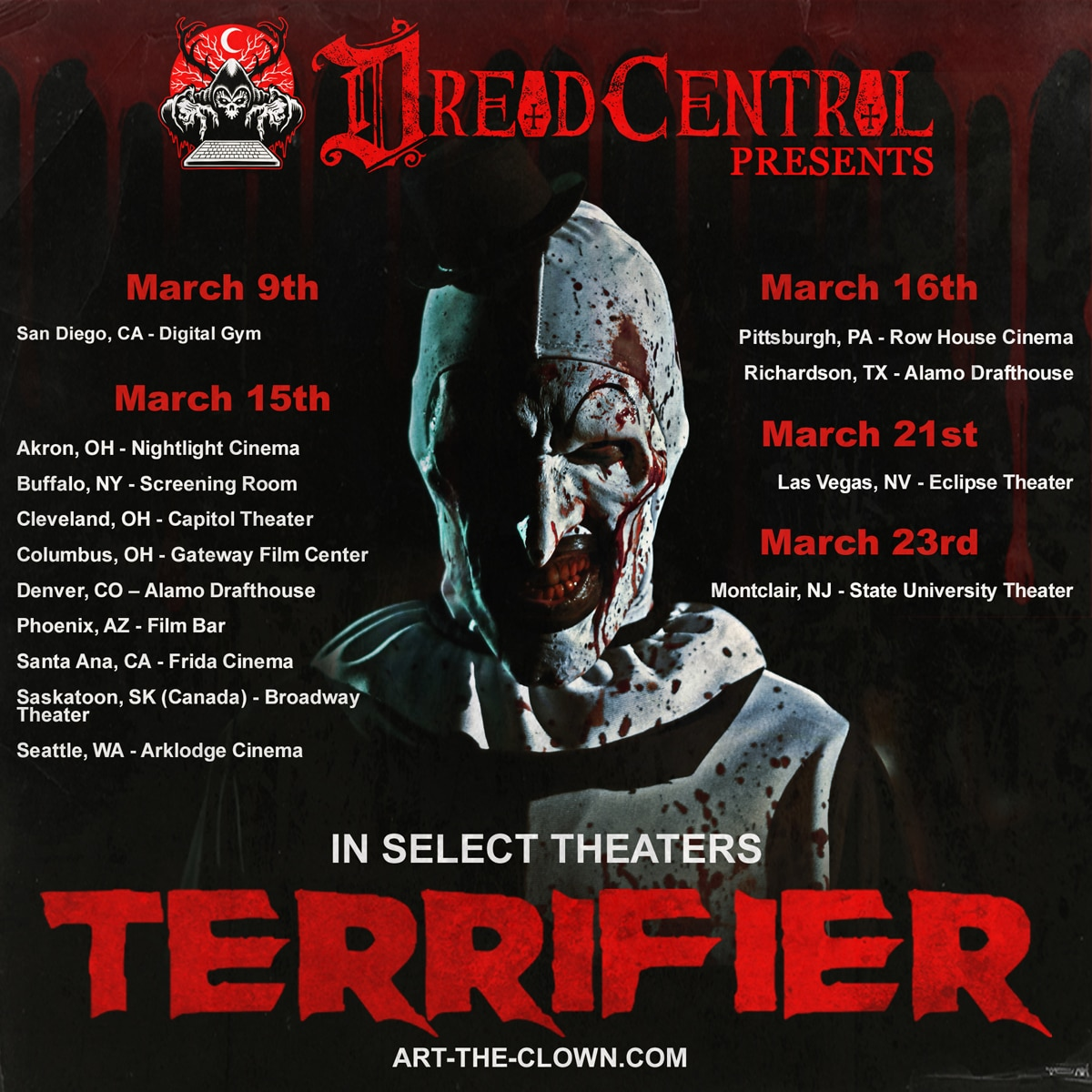 Terrifier 2048x2048 Insta - Terrifier Review Round-Up: The Critics Are SCREAMING!
