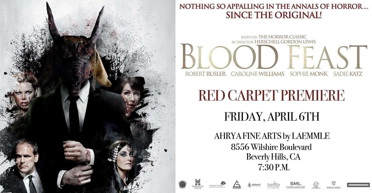 blood feast unrated redcarpet - Blood Feast Remake Embarking on Unrated Theatrical Run; Attend the Premiere for Free!