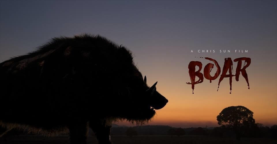 boar chris sun new poster 1 - Chris Sun's Practical FX Monster Movie Boar Gets an Action-Packed New Trailer