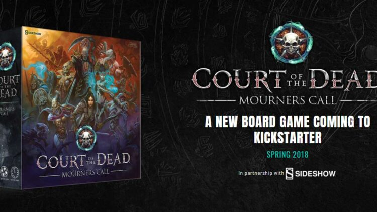 court of the dead mourners call box 750x422 - Sideshow Teaming with Project Raygun on New Court of the Dead Tabletop Game