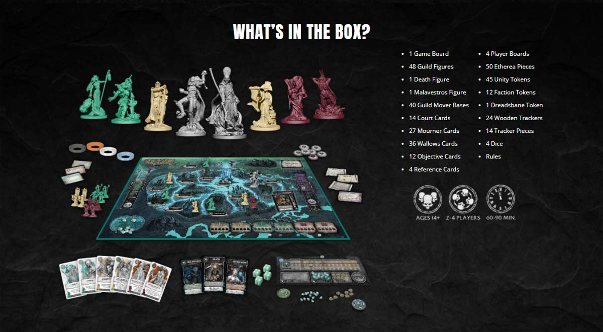 court of the dead mourners call - Sideshow Teaming with Project Raygun on New Court of the Dead Tabletop Game