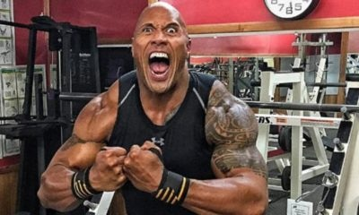 "crazy Rock selfie 2 400x240 - Dwayne ""The Rock"" Johnson Introduces New Rampage Teaser With Fun Skit"