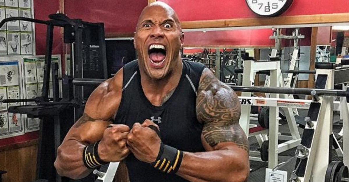"""crazy Rock selfie 2 - Dwayne """"The Rock"""" Johnson Introduces New Rampage Teaser With Fun Skit"""
