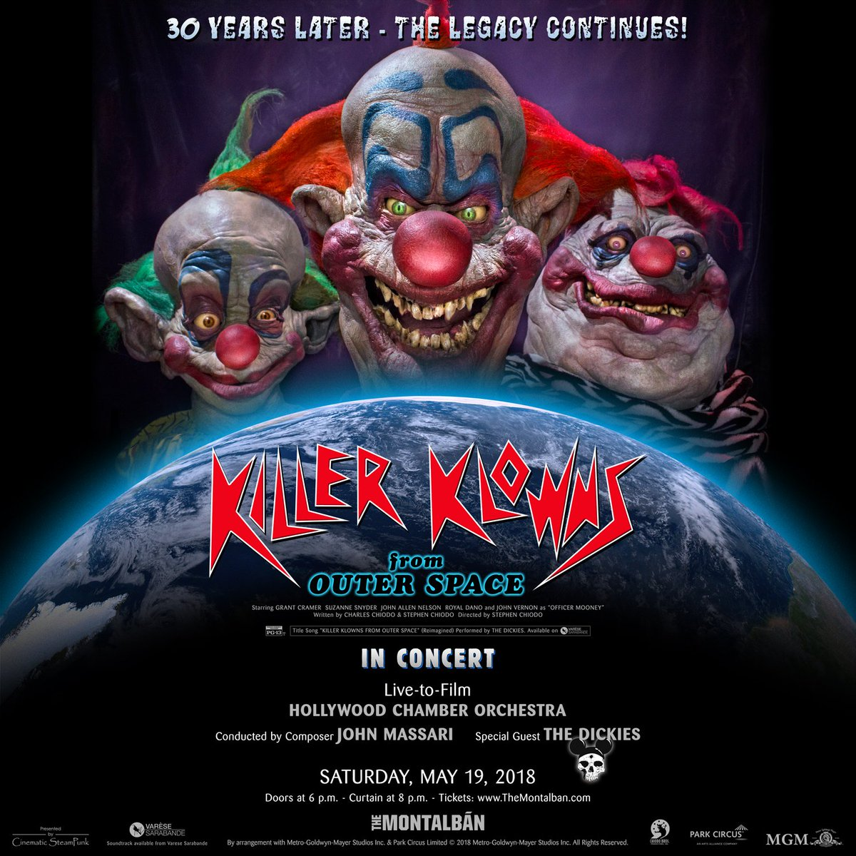Killer klowns from outer space celebrating 30 year for Who owns outer space