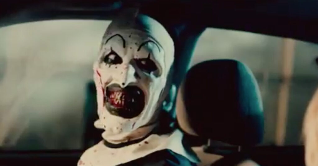 terrifier car 1024x535 - Interview: David Howard Thornton Steps Into The Big Shoes Of Art The Clown