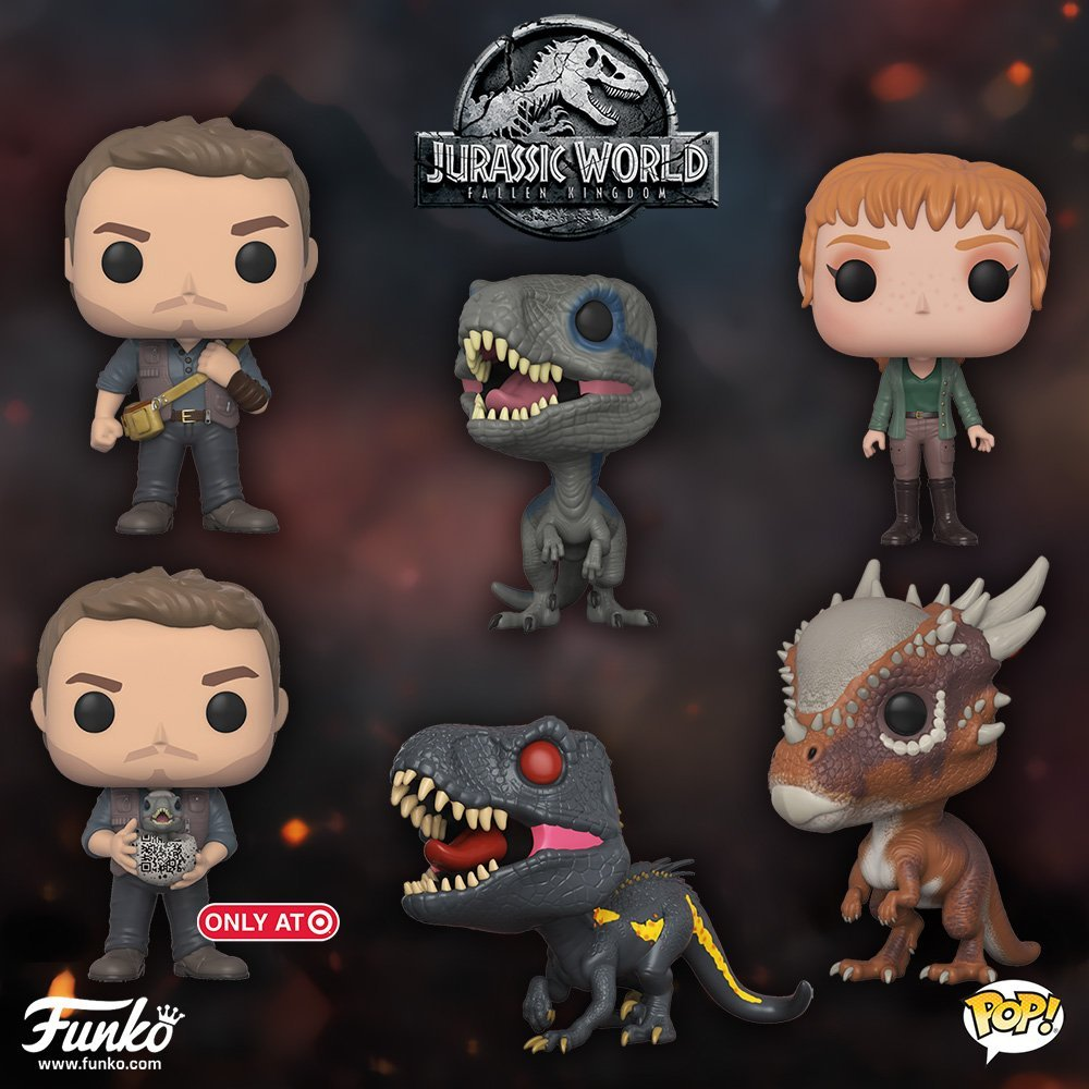 Funk Pop - Jurassic World 2 Gets Yet Another Poster - and Funko Pop Figures!