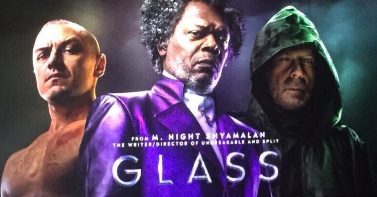 2019 Movie Poster Glass: CinemaCon: Behold The Poster For M. Night Shyamalan's