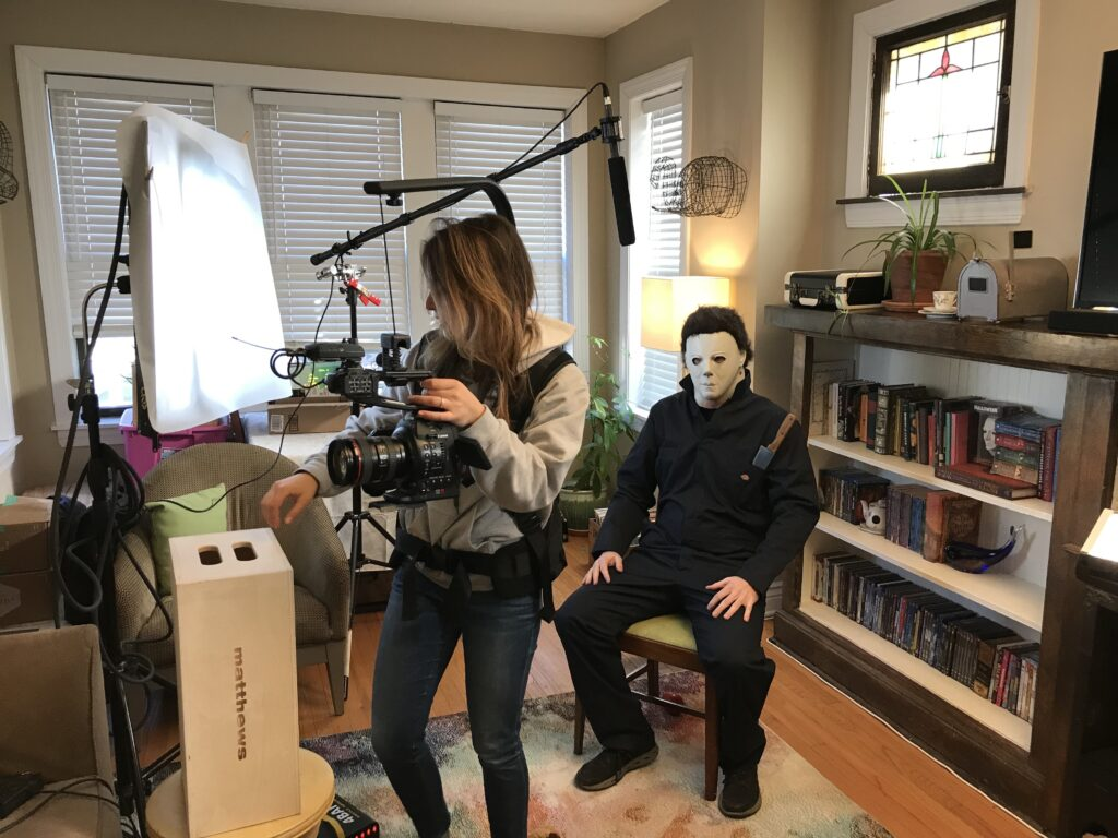 Halloween Fan Film BTS 3 1024x768 - Must-See: What If Michael Myers Was Your Roommate?