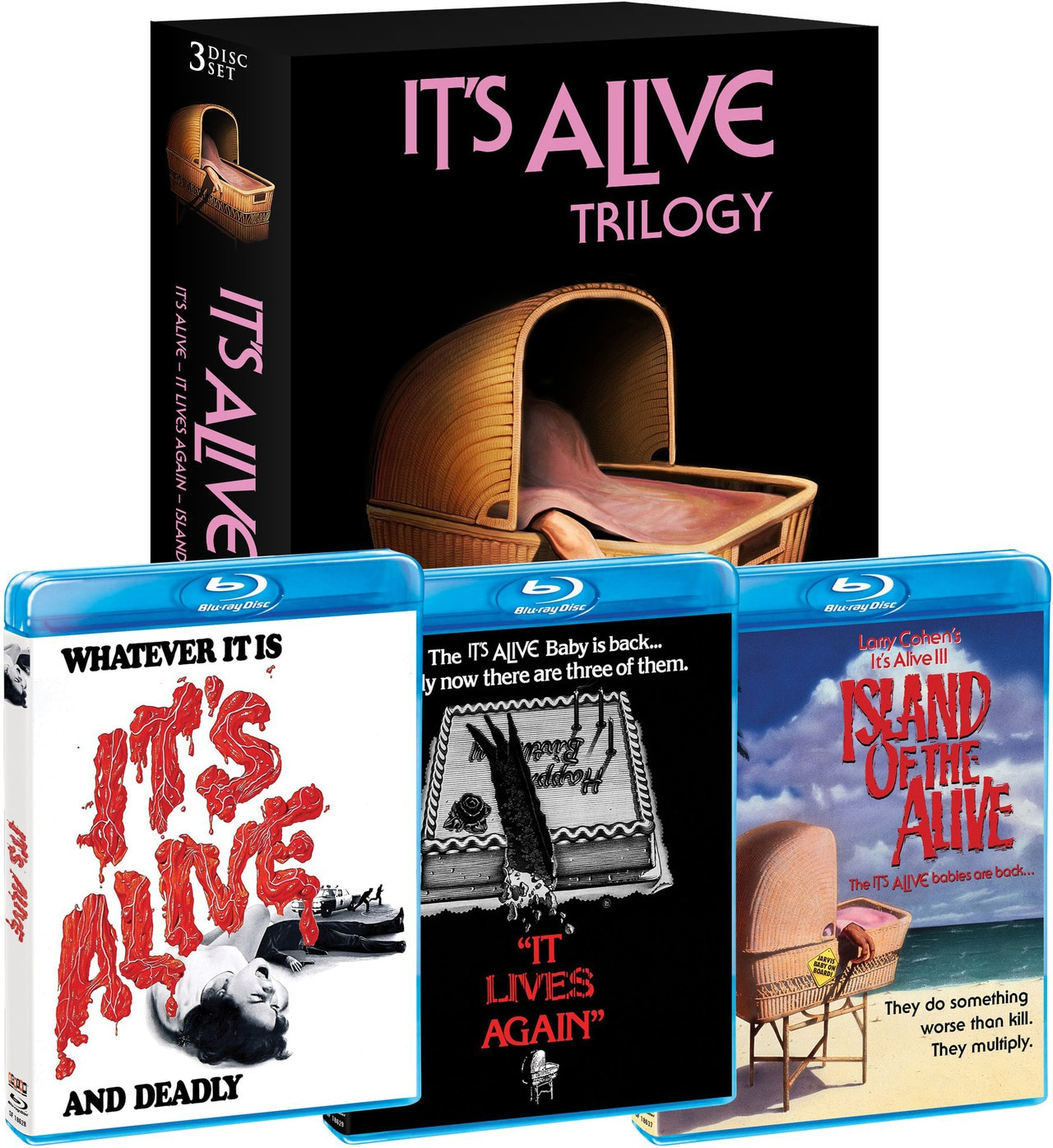 Its Alive Trilogy Covers - Scream Factory's It's Alive Trilogy Blu-ray Box Set Announces Special Features!