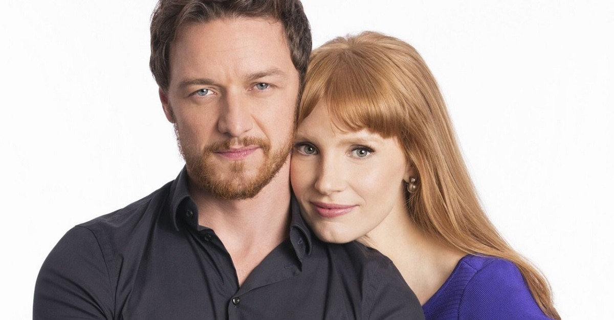 Jessica Chatain James McAvoy - Chastain Teases McAvoy About IT: Chapter 2