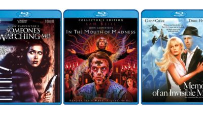 ScreamFactory3CarpenterFlicks 400x240 - Scream Factory Announces New John Carpenter Blu-rays Including In the Mouth of Madness Collector's Edition