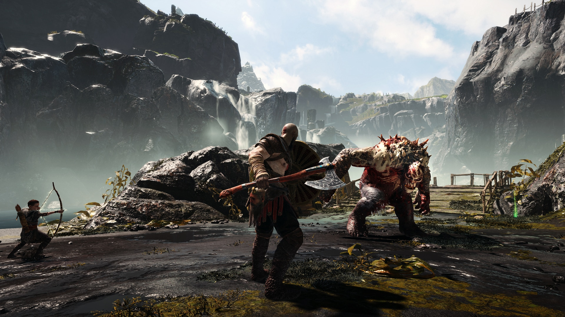 gow screens review 08 1 - GOD OF WAR Review - His Dad Can Beat Up Your Dad