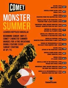 Comet Monster Summer 2018 232x300 - Comet TV to Bring Kaiju Double-Feature Goodness Throughout the Summer