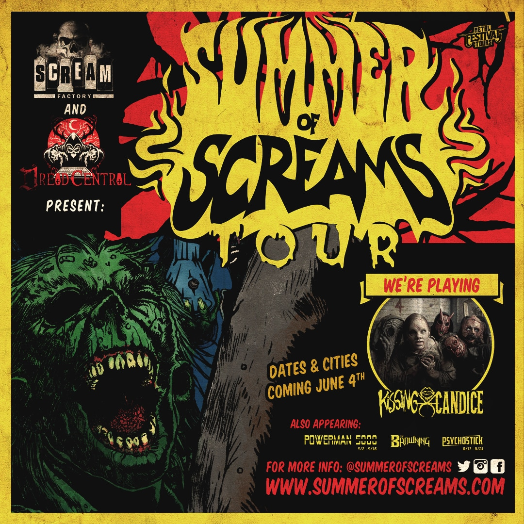 summerofscreamskissingcandiceannouncement - Dread Central and Scream Factory Present the SUMMER OF SCREAMS Tour: Kissing Candice Haunts The Stage