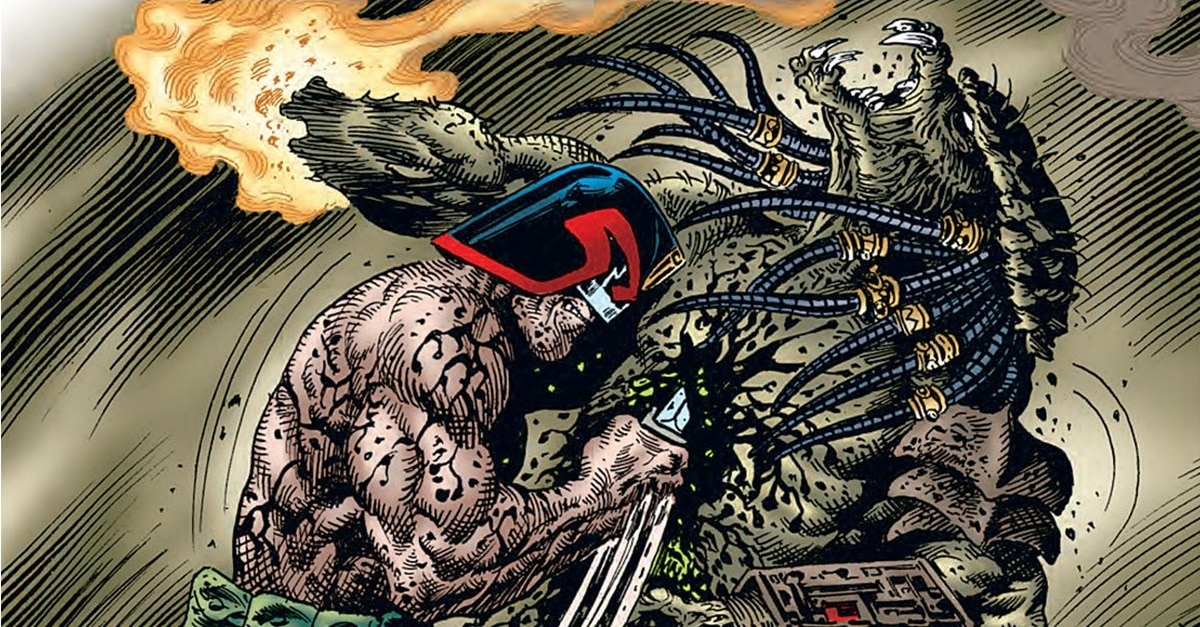 Dredd vs Predator - Comic Book Superheroes You Had No Idea Battled The PREDATOR