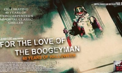 For the Love of the Boogeyman 40 Years of Halloween landscape poster 1 400x240 - FOR THE LOVE OF THE BOOGEYMAN: 4O YEARS OF HALLOWEEN Review - A Love Letter To Horror's Signature Film