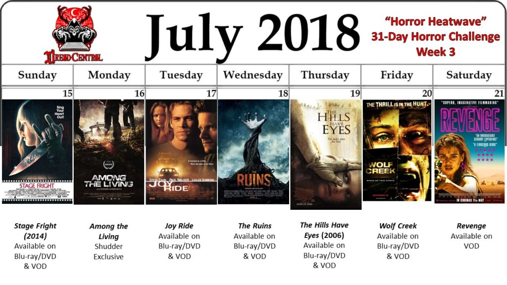July 31 Day Horror Challenge Week 3 2 1024x576 - Horror Heatwave: Dread Central's 31-Day Movie Challenge for July 2018!