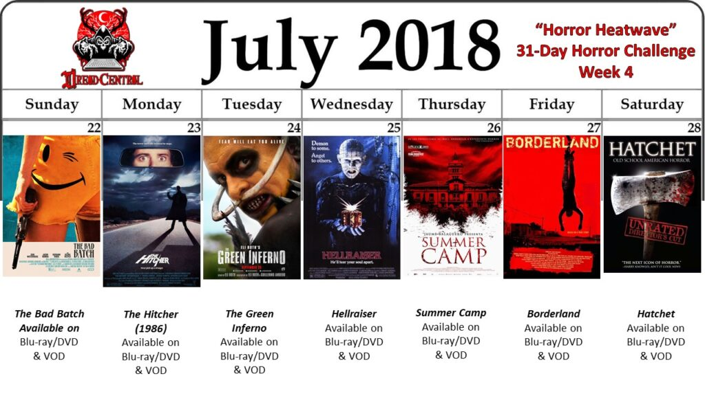 July 31 Day Horror Challenge Week 4 2 1024x576 - Horror Heatwave: Dread Central's 31-Day Movie Challenge for July 2018!