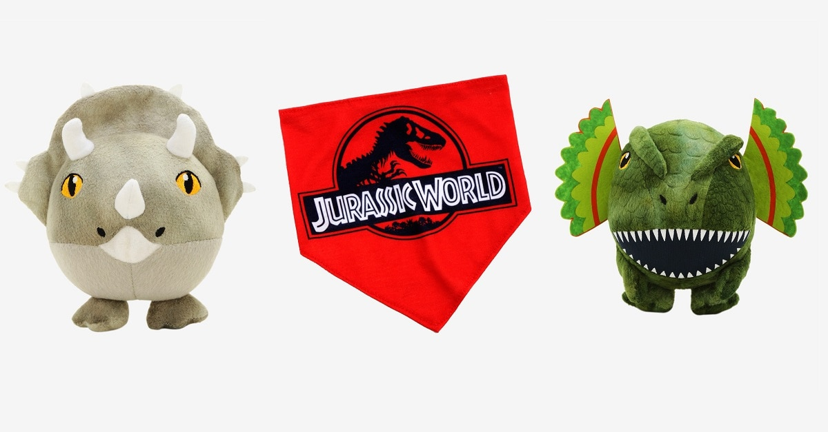 Jurassic World Triceratops Dog Toy 1 - Exclusive: BoxLunch's JURASSIC WORLD Collection for Humans and Pets