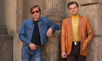 Leo and Pitt 400x240 - FIRST LOOK: DiCaprio and Pitt in Tarantino's ONCE UPON A TIME IN HOLLYWOOD