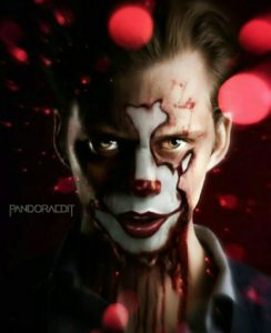 Pennywise 244x300 - Bill Skarsgard on Stephen King's IT: CHAPTER 2's Adult Cast