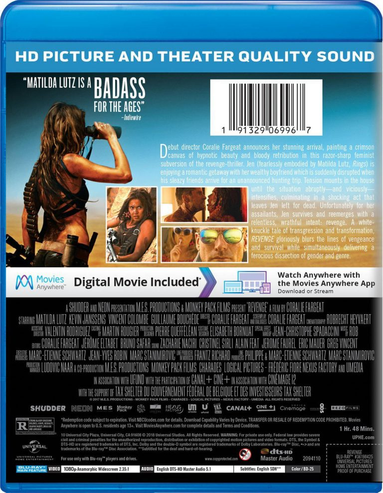 Revenge Blu ray 02 768x987 - Coralie Fargeat's REVENGE Hits Blu-ray and DVD This August