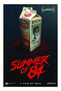 Summer of 84 203x300 - RKSS' Nostalgia Thriller SUMMER OF '84 Lands Summer of '18 Release Date