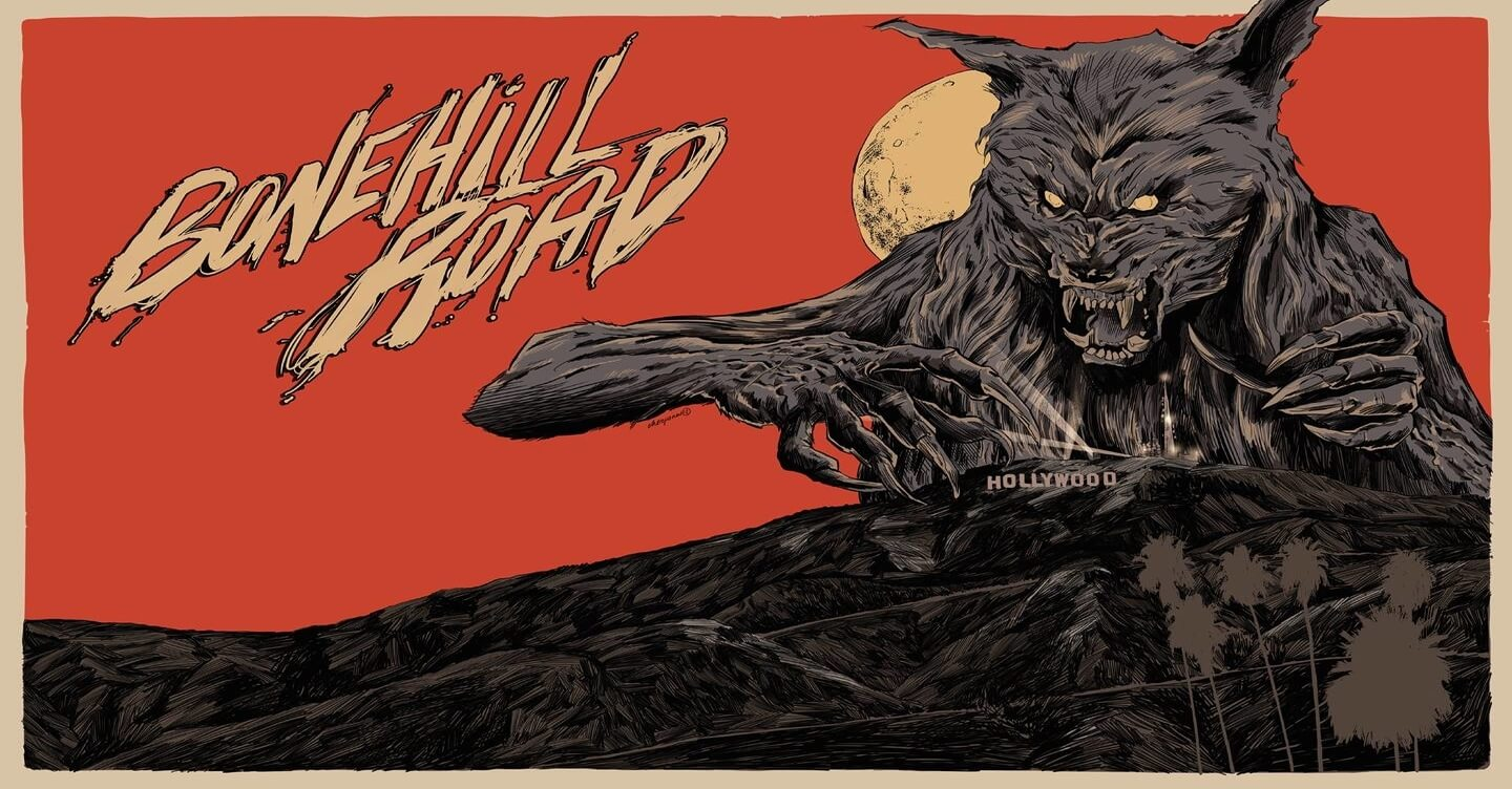 bonehill road animated poster 1 - Hunger Shows No Mercy In New BONEHILL ROAD Trailer, Home Video Release Date Confirmed