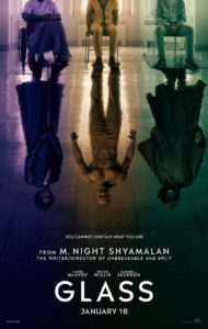 glassposter 190x300 - Shyamalan's GLASS Gets Colorful and Intriguing Poster