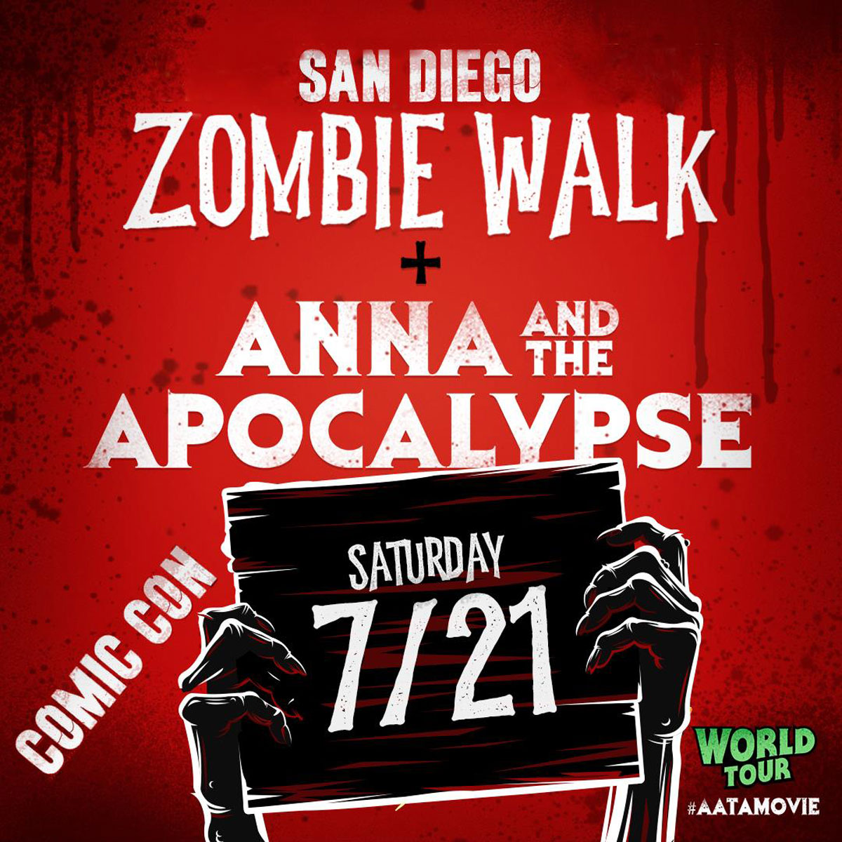 AATA SDCC zombie walk - #SDCC18: New ANNA AND THE APOCALYPSE Poster Unveiled Just in Time for Zombie Walk!