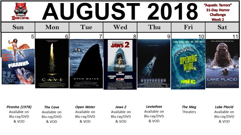 August 31 Day Horror Challenge Aquatic Terrors Week 2 1024x576 - Aquatic Terrors: Dread Central's 31-Day Horror Challenge for August 2018