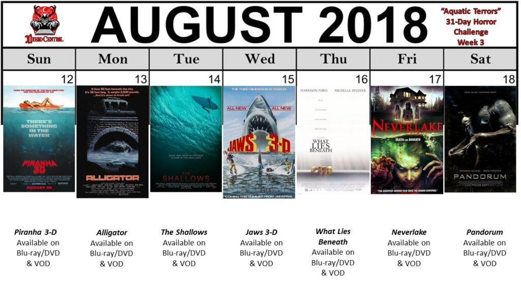 August 31 Day Horror Challenge Aquatic Terrors Week 3 1024x576 - Aquatic Terrors: Dread Central's 31-Day Horror Challenge for August 2018