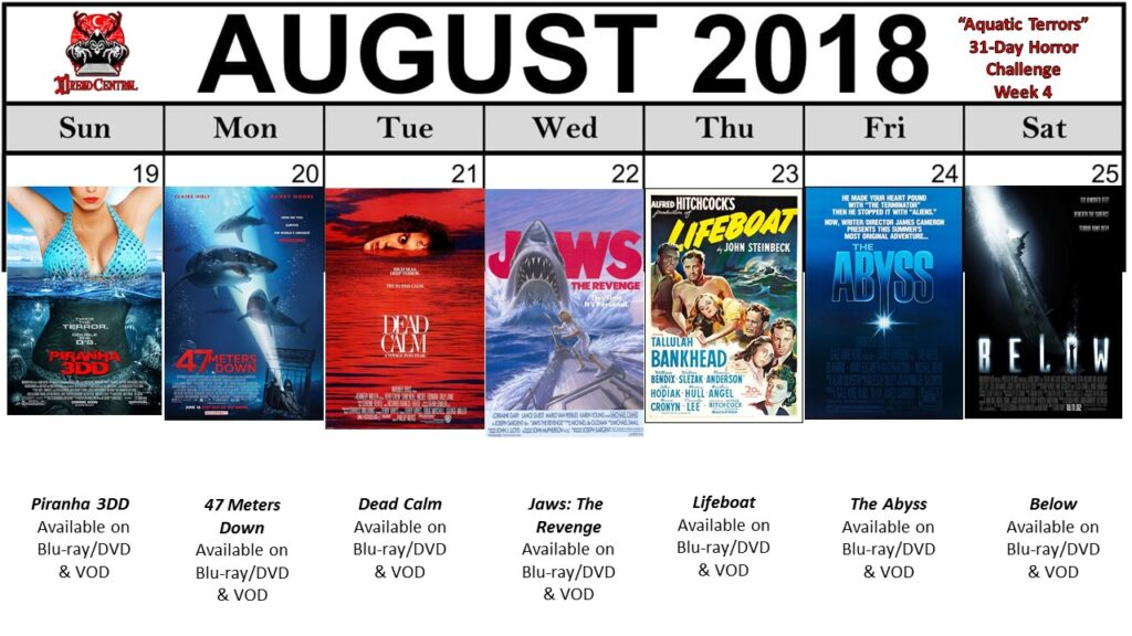 August 31 Day Horror Challenge Aquatic Terrors Week 4 1024x576 - Aquatic Terrors: Dread Central's 31-Day Horror Challenge for August 2018
