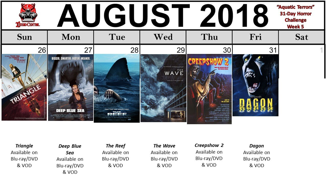 Aquatic Terrors: Dread Central's 31-Day Horror Challenge for