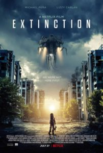 Extinction Poster 202x300 - TRAILER: Netflix's EXTINCTION w/ Michael Pena and Lizzy Caplan
