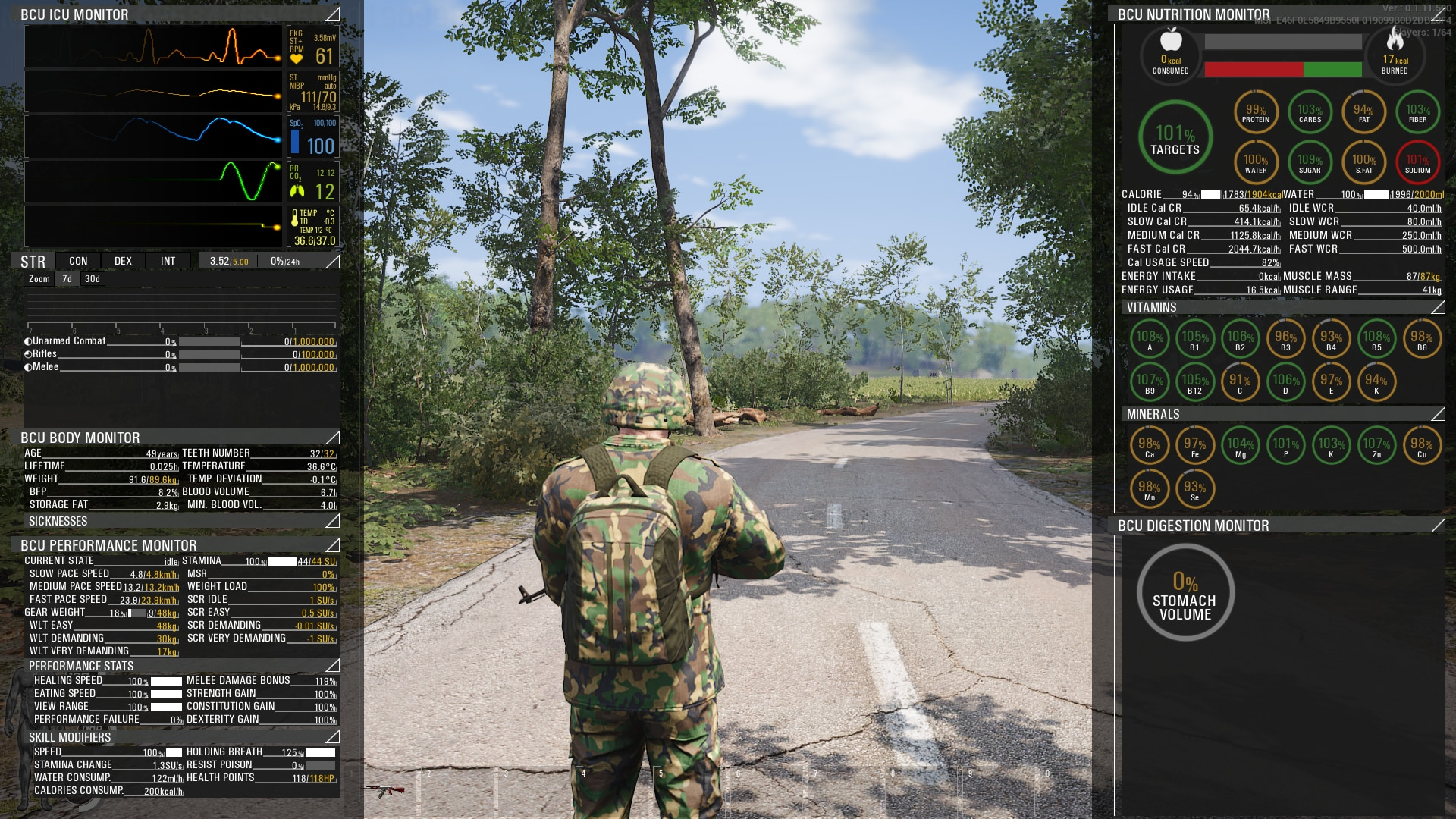 SCUM Character Status - SCUM Is An Insane Game Made By Croatian Madmen