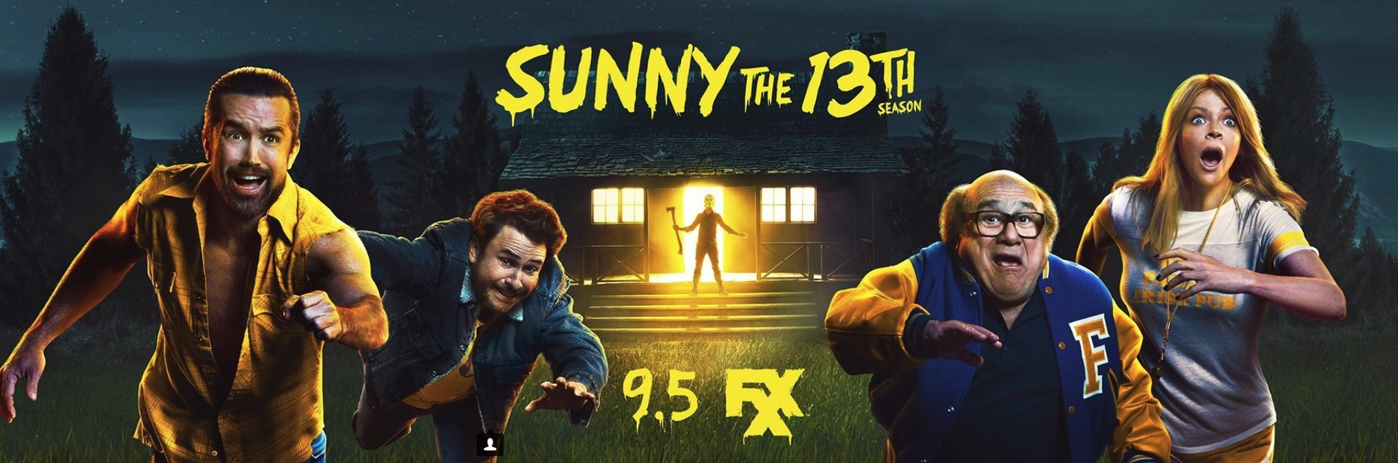 Sunny the 13th Part 2 - IT'S ALWAYS SUNNY S13 Poster Brings the FRIDAY THE 13TH Cheer