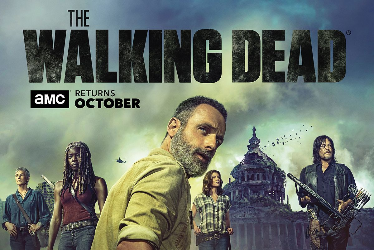 The Walking Dead - Rick Cries at the Capitol in New THE WALKING DEAD S9 Artwork