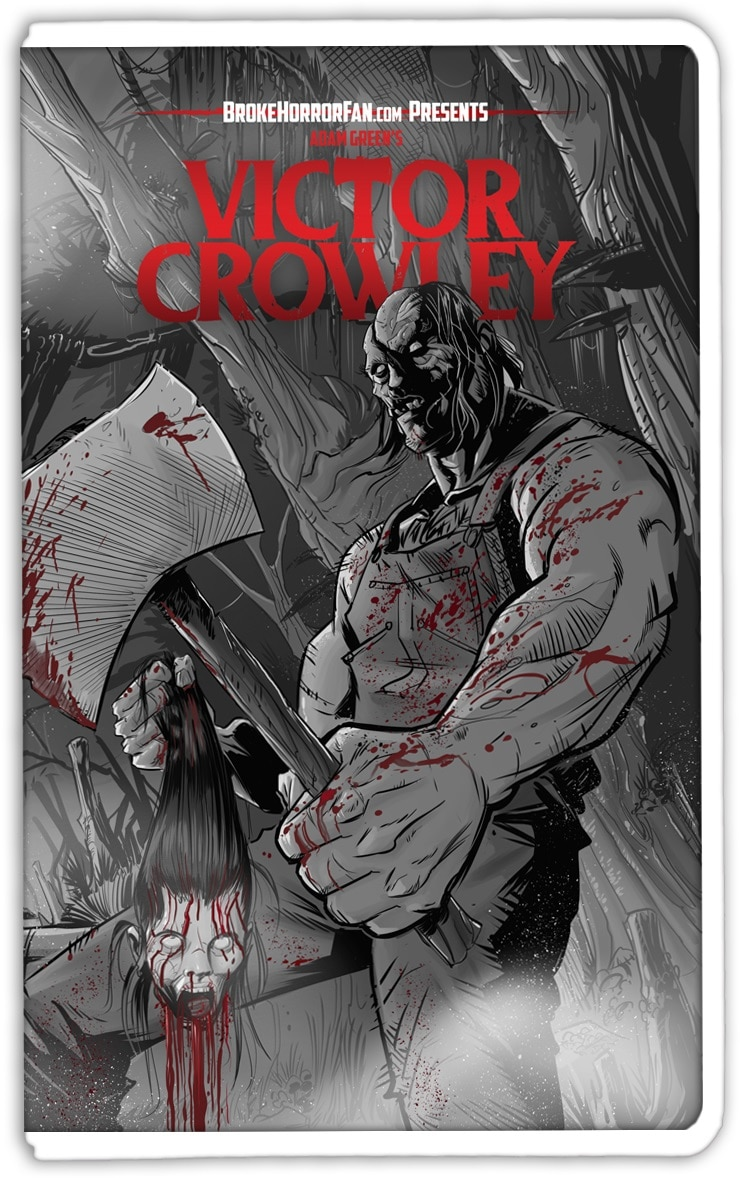 VictorCrowley VHS2 bloody - VICTOR CROWLEY Variant VHS Covers Are Here and Going Fast!