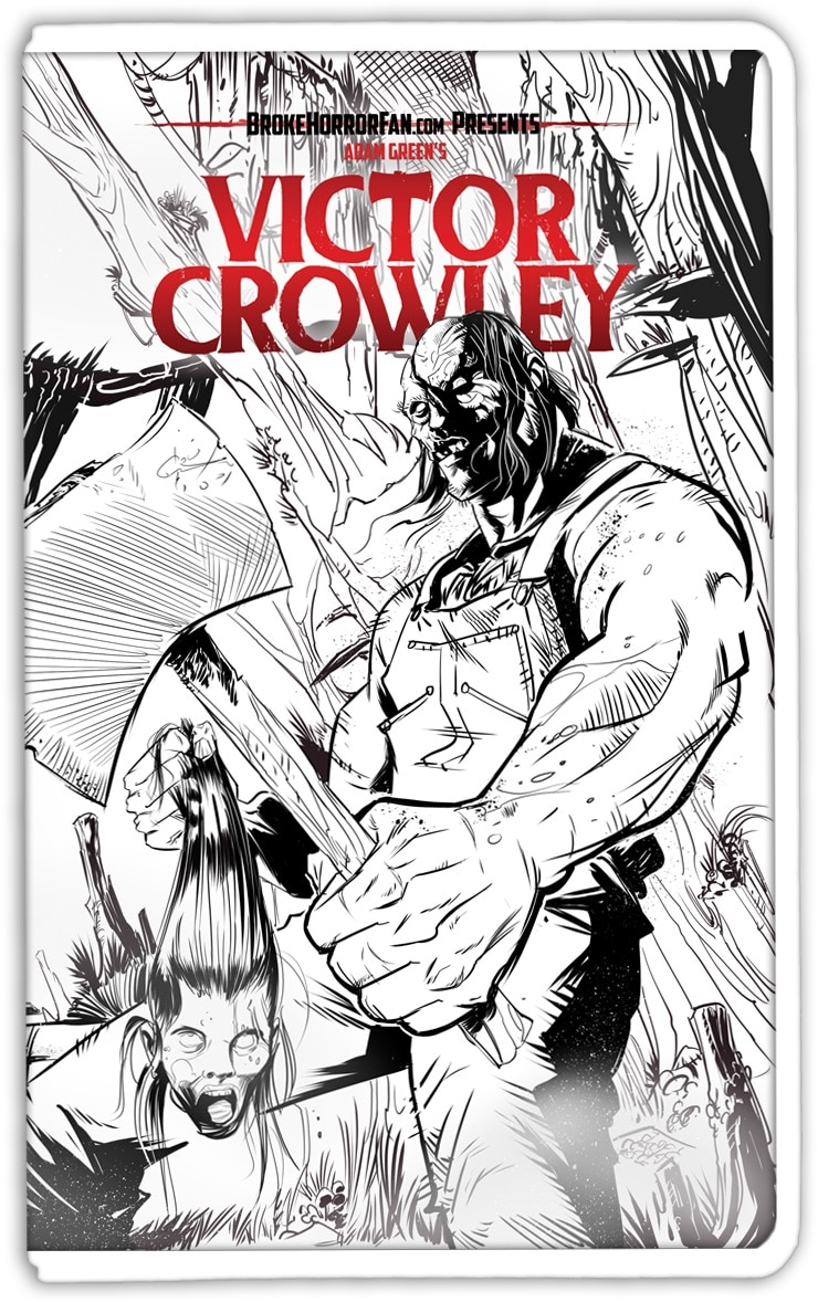 VictorCrowley VHS3 lineart - VICTOR CROWLEY Variant VHS Covers Are Here and Going Fast!